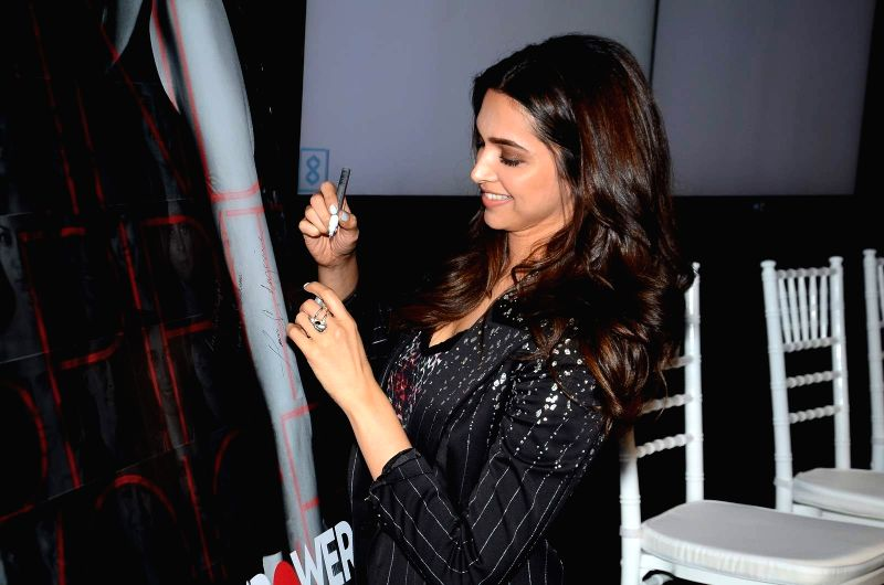 Actor Deepika Padukone during the launch of short film My Choice in Mumbai on March 27, 2015. - Deepika Padukone