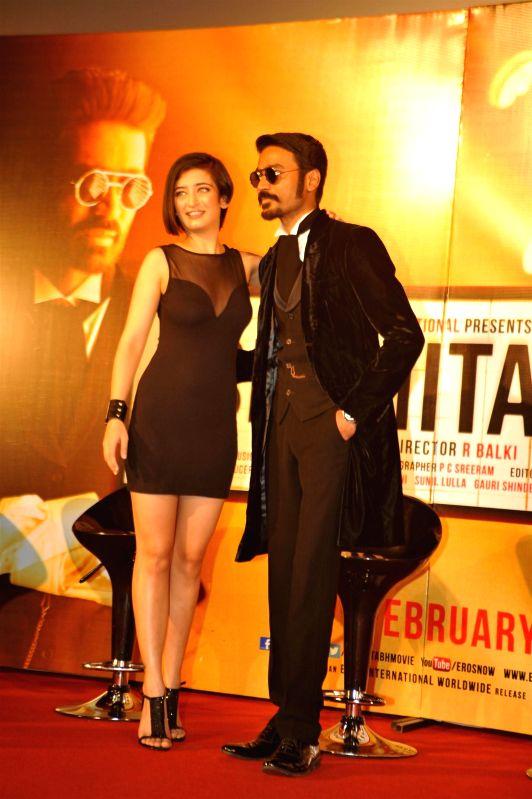 Actor Dhanush during the trailer launch of upcoming film SHAMITABH in Mumbai on Jan 6, 2015. - Dhanush
