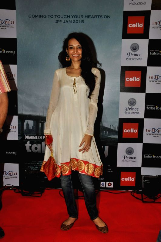 Actor Dipanita Sharma during the launch of film Take It Easy at Infinity Mall, in Mumbai, on Dec 21, 2014. - Dipanita Sharma
