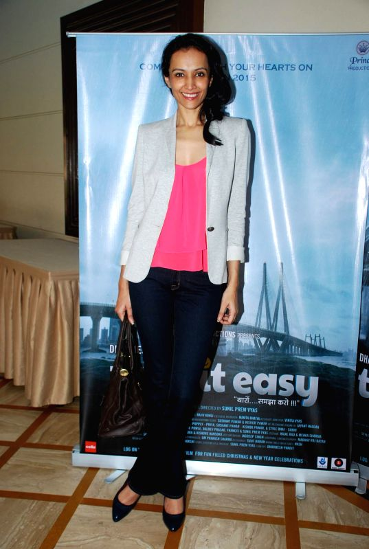 Actor Dipannita Sharma during the media interaction of film Take it Easy in Mumbai, on Dec. 24, 2014. - Dipannita Sharma