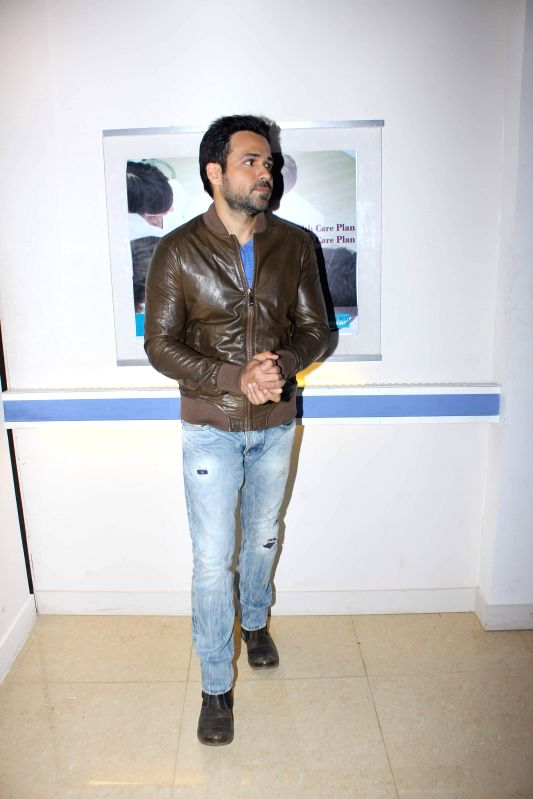 Actor Emraan Hashmi during the shooting of Bindass show Zindagi Wins for the promotion of his upcoming movie Mr. X, in Mumbai on April 2, 2015.