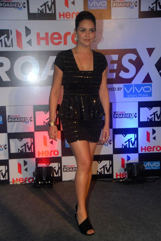 Actor Esha Deol, during the launch of MTV Rodies X2, a youth-based popular reality television show on MTV India channel, in Mumbai, on Jan. 22, 2015. - Esha Deol