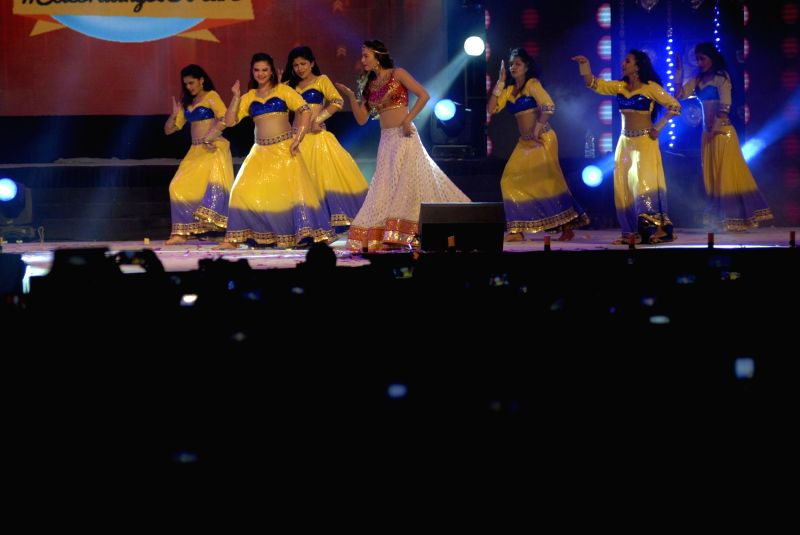 Actor Gauhar Khan during her the New Year performance at Country Club in Mumbai, on Dec 31, 2014.