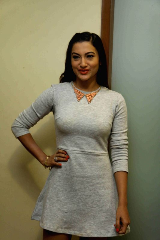 Actor Gauhar Khan during the announcement of her New Year`s Eve performance in CCIL in Mumbai, on December 29, 2014.