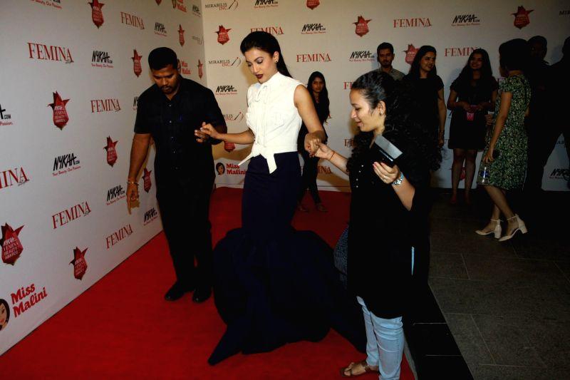 Actor Gauhar Khan during the Nykaa.com Femina Beauty Awards 2015 in Mumbai, on Feb 11, 2015. - Gauhar Khan