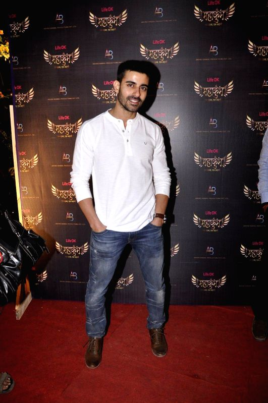 Actor Gautam during the launch of Life Ok`s serial Mahukukumb at Filmcity in Mumbai, on Dec. 15, 2014. - Gautam