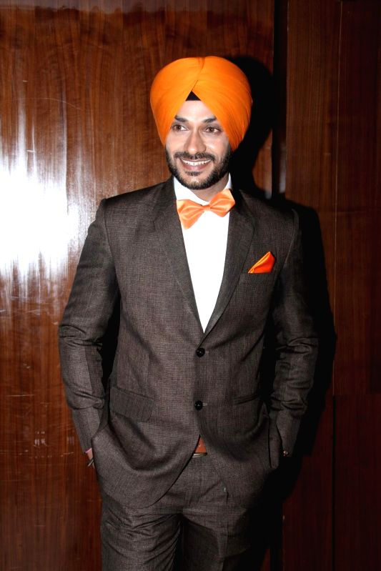 Actor Gurdev Bhullar during the music launch of film Three Atrangi Jai-Veeru-Gabbar in Mumbai on March 20, 2015. - Gurdev Bhullar