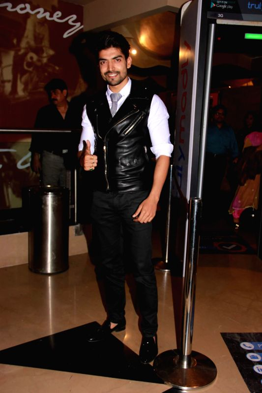 Actor Gurmeet Choudhary during screening of the film Khamoshiyan in Mumbai on January 29, 2015. - Gurmeet Choudhary