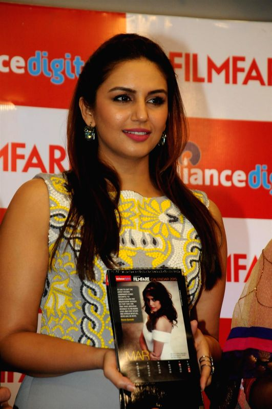Actor Huma Qureshi during the launch of Reliance Digital Filmfare Calendar 2015 in Mumbai, on Jan. 19, 2015.