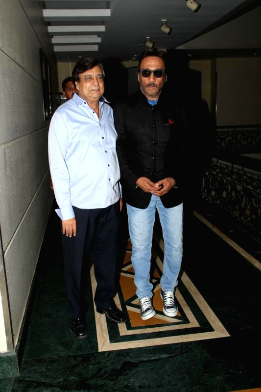 Actor Jackie Shroff and filmmaker K C Bokadia during the press conference of film Dirty Politics, in Mumbai on March 3, 2015. - Jackie Shroff