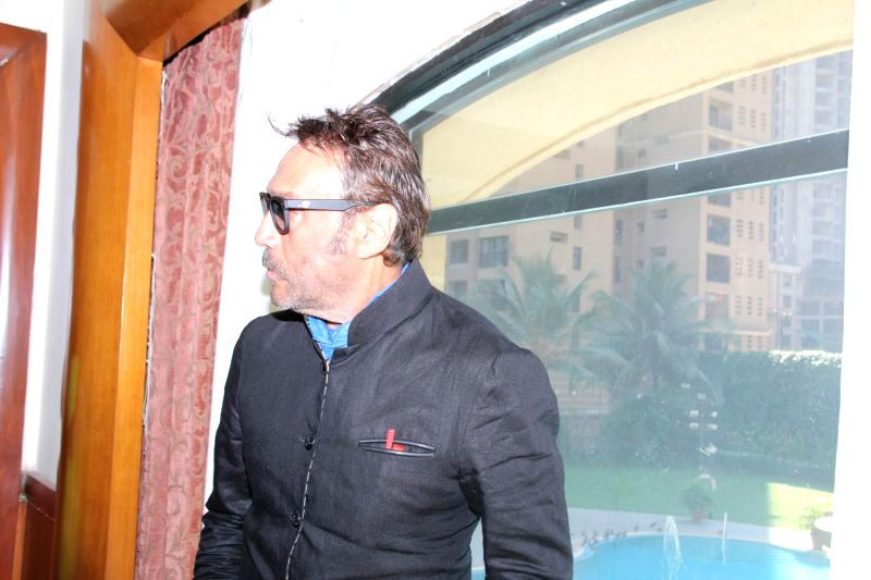 Actor Jackie Shroff during the press conference of film Dirty Politics, in Mumbai on March 3, 2015. - Jackie Shroff