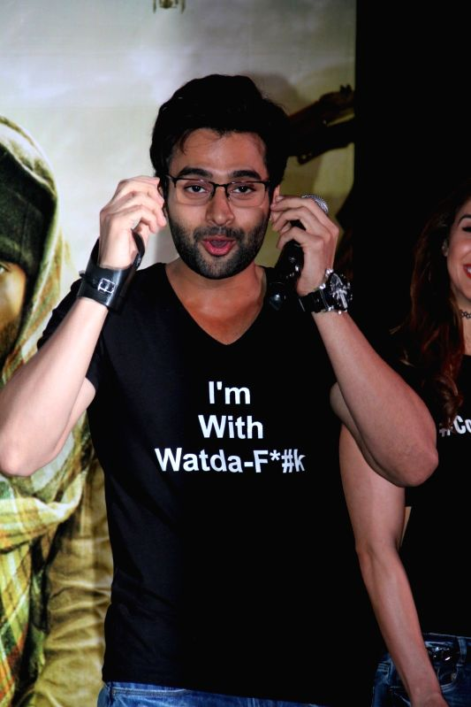 Actor Jackky Bhagnani during the trailer launch of the film Welcome to Karachi in Mumbai on 13th April 2015. - Jackky Bhagnani