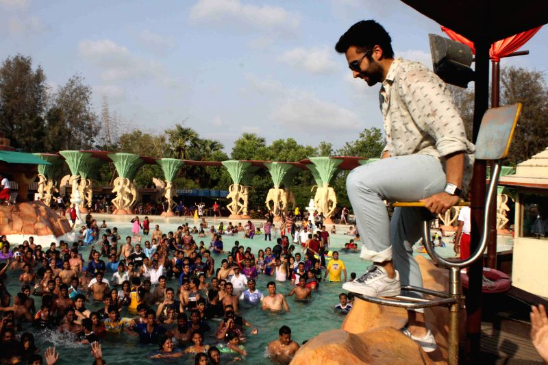 Actor Jackky Bhagnani promote Welcome To Karachi at 17th anniversary celebrations of Water Kingdom in Mumbai on April 26, 2015.