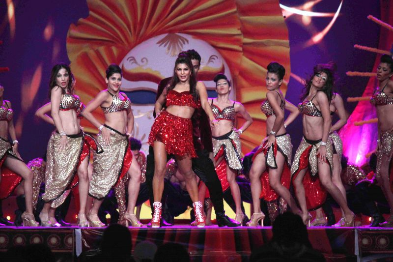 Actor Jacqueline Fernandez performs during television show Got Talent World Stage Live in Mumbai on Dec 6, 2014. - Jacqueline Fernandez