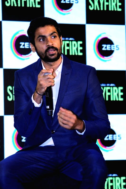 Mumbai: Actor Jatin Goswami during a press conference to promote his ZEE5's web series 'Skyfire' in Mumbai, on May 14, 2019. (Photo: IANS)