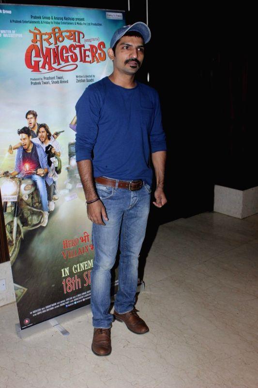Mumbai: Actor Jatin Sarna during the music launch of film Meeruthiya Gangsters in Mumbai, on Sep 7, 2015. (Photo: IANS)