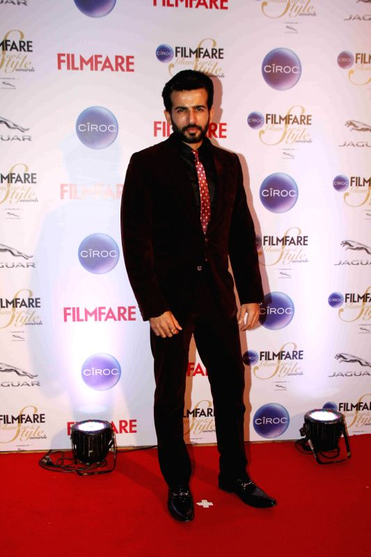 Actor Jay Bhanushali during the Filmfare Glamour and Style Awards in Mumbai on Feb 26, 2015. - Jay Bhanushali