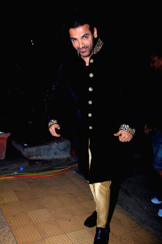 Actor John Abraham spotted shooting for film Welcome Back at Mehboob studios in Mumbai on 30th November, 2014