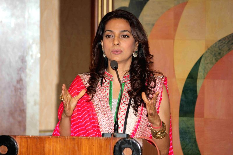 Actor Juhi Chawla during the inauguration of Dialysis centre in Dalvi hospital in Mumbai on March 12, 2015.
