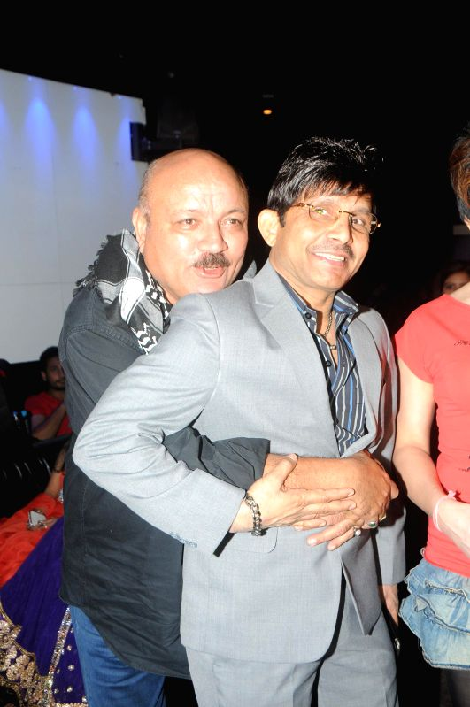 Actor Kamaal R Khan with Sakshi Pradhan during Kamal Khan's birthday party in Mumbai during Kamal Khan's birthday party in Mumbai, on jan. 08, 2015. - Kamaal R Khan