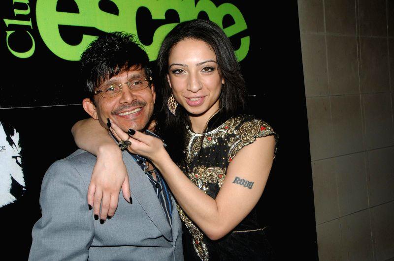 Actor Kamaal R Khan with Shanti Dynamite during Kamal Khan's birthday party in Mumbai during Kamal Khan's birthday party in Mumbai, on jan. 08, 2015. - Kamaal R Khan