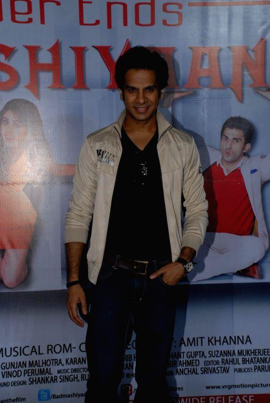 Actor Karan Mehra during the press conference of film Badmashiyan in Mumbai on 28th January 2015. - Karan Mehra