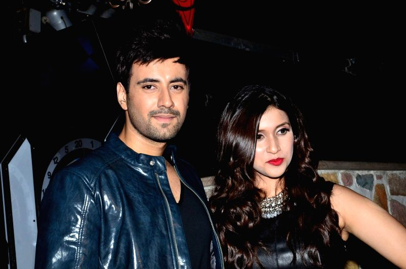 Actor Karanvir Sharma and Mannara Chopra during the music celebration of film Zid, in Mumbai on Nov 25, 2014. - Karanvir Sharma and Mannara Chopra