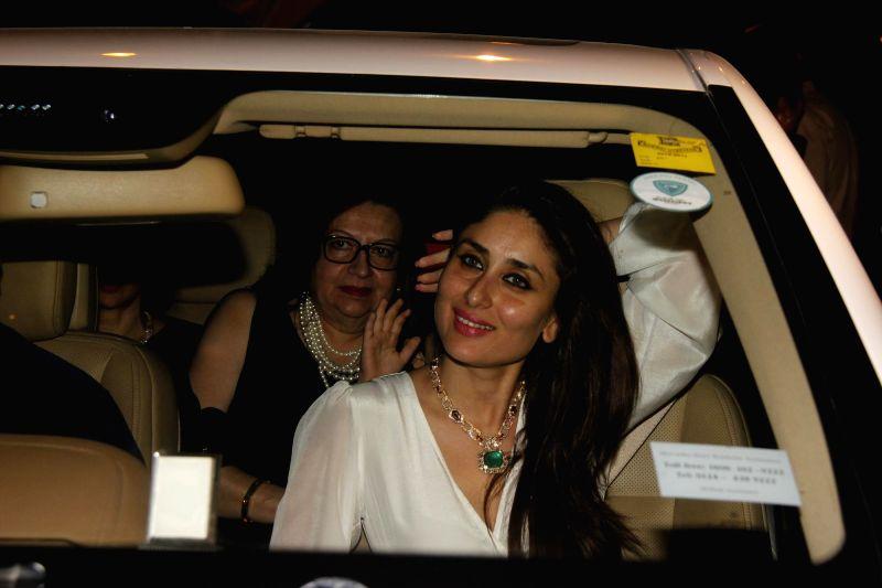 Actor Kareena Kapoor Khan attend the Midnight Mass on Christmas Eve at a Church in Mumbai, on Dec 24, 2014. - Kareena Kapoor Khan