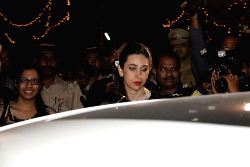 Actor Karishma Kapoor attend the Midnight Mass on Christmas Eve at a Church in Mumbai, on Dec 24, 2014. - Karishma Kapoor