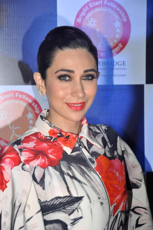 Actor Karishma Kapoor during the Annual day celebration of Bright Start Fellowship International School in Mumbai, on Feb 27, 2015. - Karishma Kapoor