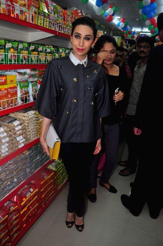 Actor Karisma Kapoor during the inauguration of Dhananjay Datar`s Masala King Supermarket in Kharghar, Navi Mumbai on January 29, 2015. - Karisma Kapoor