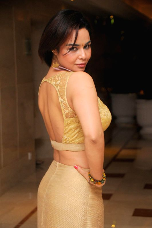 Actor Kavita Varma during the annual fashion show organized by IITC Institute Global Careers in Mumbai, on Dec. 22, 2014. - Kavita Varma
