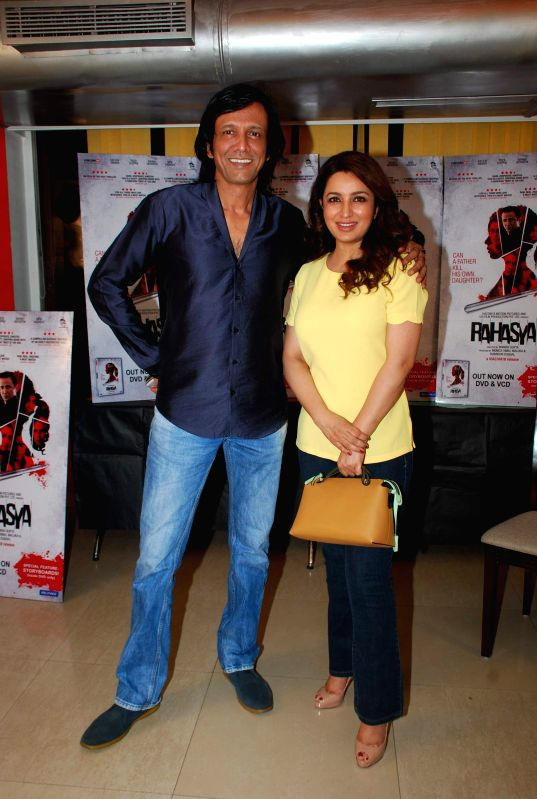 Actor Kay Kay Menon and Tisca Chopra during the DVD launch of film Rahasya in Mumbai, April 3, 2015. - Kay Kay Menon and Tisca Chopra