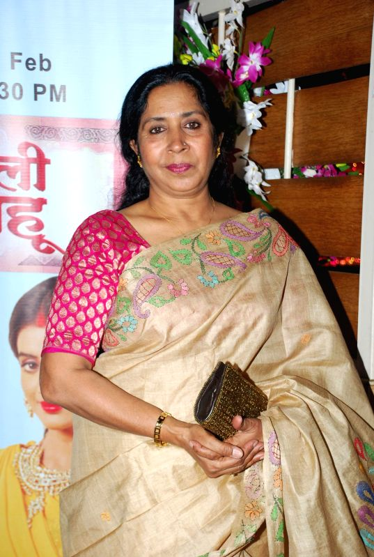 Actor Kiran Bhargava during the launch party of Zee TV new show Service Wali Bahu in Mumbai on Feb 23, 2015. - Kiran Bhargava