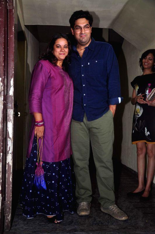 Actor Kunaal Roy Kapur along with his wife Shayonti Roy Kapur during the screening of film Action Jackson in Mumbai, on December 4, 2014. - Kunaal Roy Kapur and Shayonti Roy Kapur