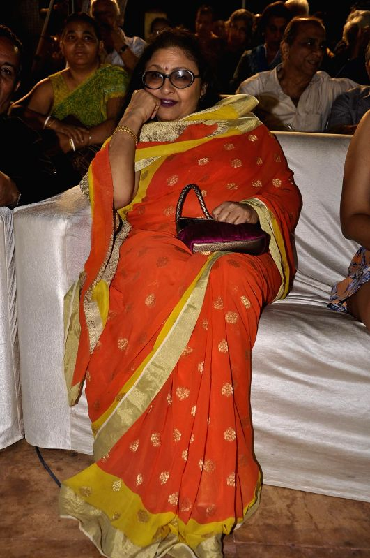 Actor Leena Chandavarkar during the Hum Log Awards 2015 in Mumbai on Feb. 16, 2015. - Leena Chandavarkar