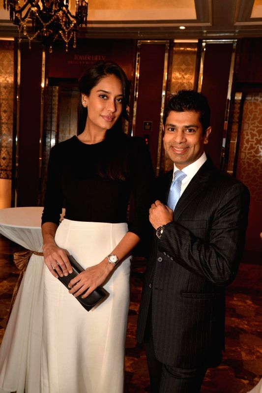 Actor Lisa Haydon during the launch of Carl F. Bucherer's new ladies collection Pathos held at the Palladium Hotel in Mumbai, on Nov 17, 2014.