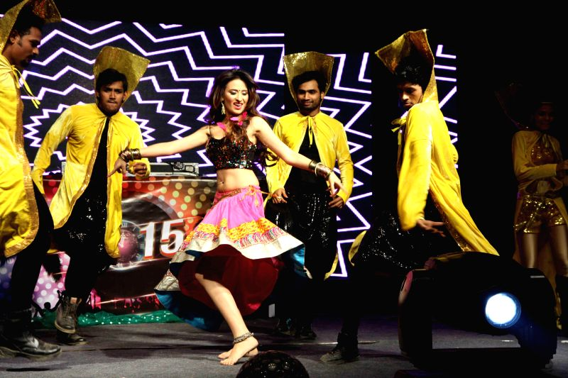Actor Mahi Sharma performs during the new year celebrations in Mumbai, on Dec. 31, 2014. - Mahi Sharma