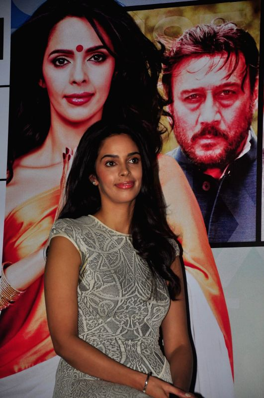 Actor Mallika Sherawat during the press conference of film Dirty Politics, in Mumbai, on Dec 21, 2014. - Mallika Sherawat