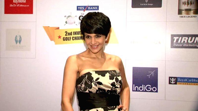 Actor Mandira Bedi at Yes Bank Golf Foundation event in Mumbai, on Dec 5, 2014.