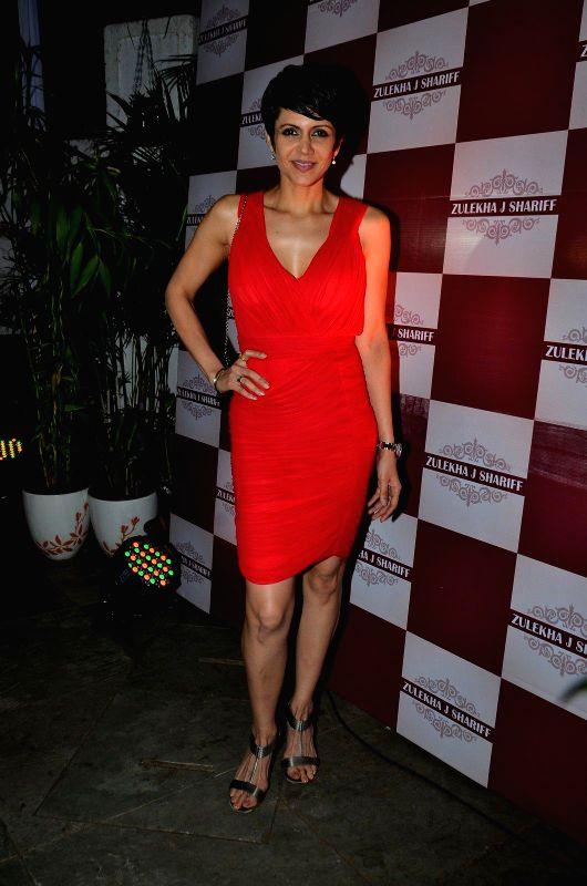 Actor Mandira Bedi during the launch of Zulekha`s collection in Mumbai, on Dec. 15, 2014. - Mandira Bedi