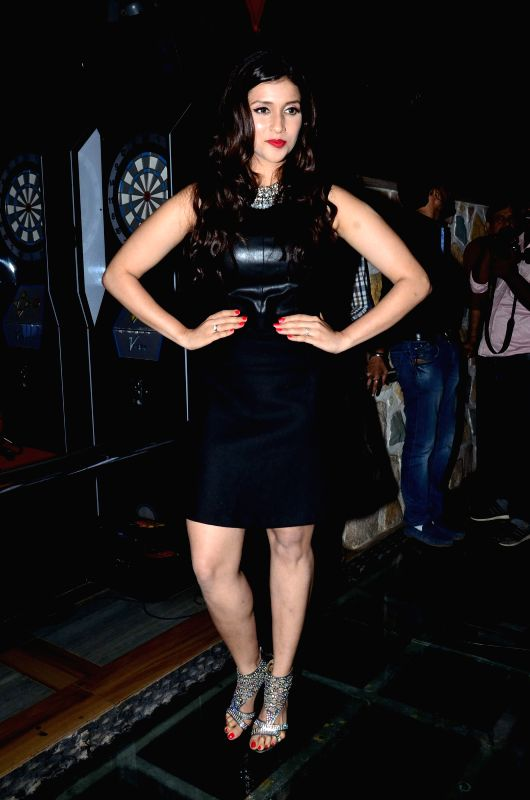 Actor Mannara Chopra during the music celebration of film Zid, in Mumbai on Nov 25, 2014. - Mannara Chopra