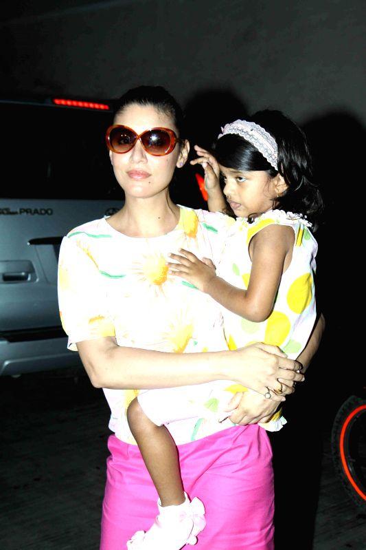 Actor Manoj Bajpai`s wife Shabana Raza during the special screening of film Cinderella in Mumbai on March 13, 2015. - Manoj Bajpai