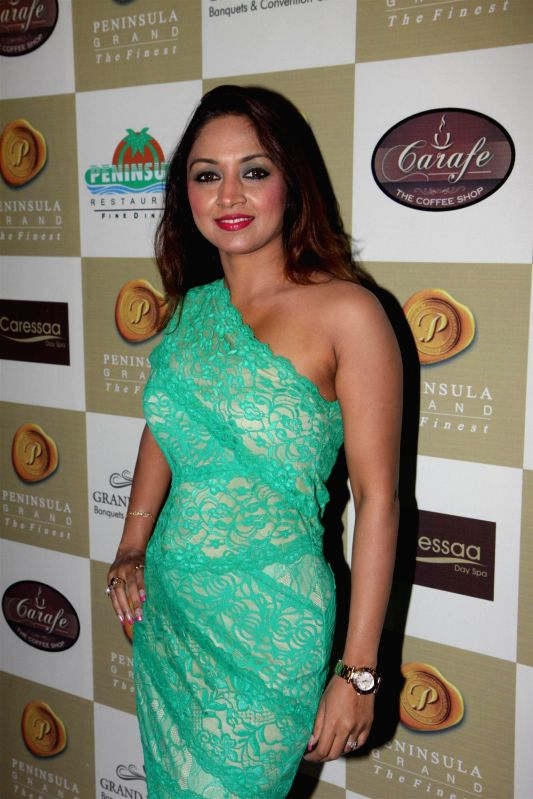 Actor Marisa Verma during the Cake Mixing event, Mumbai on Nov. 24, 2014. - Marisa Verma