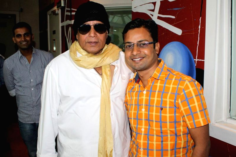 Actor Mithun Chakraborty feliciated the Big Hawaizaada Heroes by Big FM radio in Mumbai on Feb. 2, 2015.