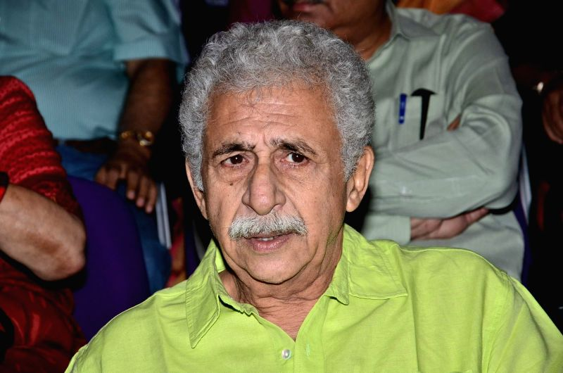 Actor Naseeruddin Shah during the launch of his book 'And Then One Day: A Memoir' in Mumbai on Nov 26, 2014. - Naseeruddin Shah