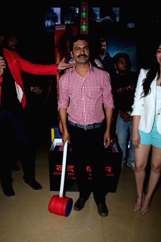 Actor  Nawazuddin Siddiqui during the Promotion of Film Badlapur in Mumbai on Feb 15, 2015. - Nawazuddin Siddiqui
