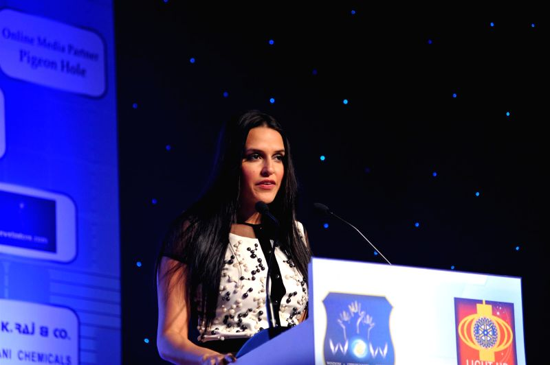 Actor Neha Dhupia during Rotary Club of Bombay`s WOW District Conference 2015 (DISCON) in Mumbai on  Feb 01, 2015. - Neha Dhupia
