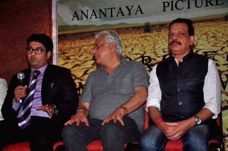 Actor Om Puri at the Film Promotion of Project Marathwada in Mumbai on 7th Jan 2015