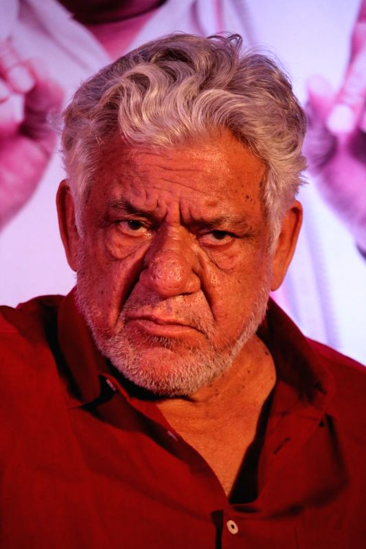 Actor Om Puri during the trailer launch of film Jai Ho Democracy in Mumbai on 18th March 2015